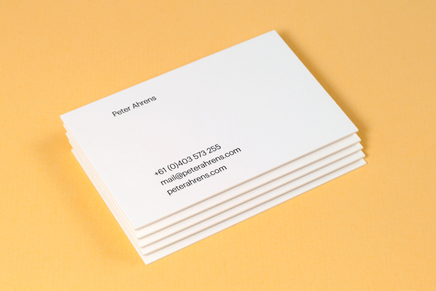 Business card design for Peter Ahrens by Studio Jubilee