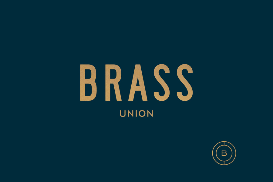 Logo for Somerville pub and cocktail bar Brass Union designed by Oat