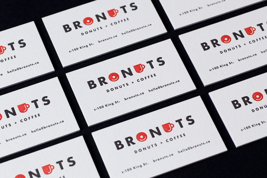 Branding for Bronuts by Canadian graphic design studio One Plus One