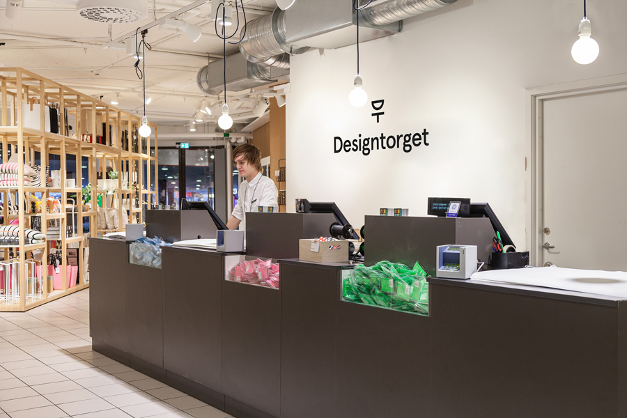 Logo and signage by Kurppa Hosk for Swedish contemporary furniture, art and design curator and retailer Designtorget