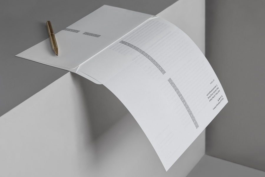 Stationery by graphic design studio Lundgren+Lindqvist for Edouard Malingue Gallery