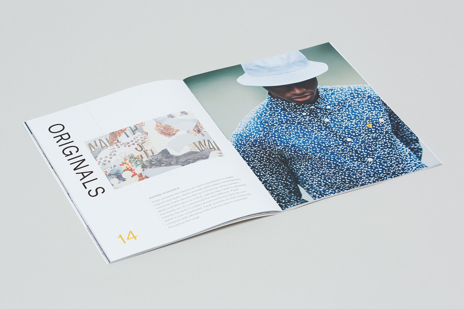 Brand identity and brand book for UK fashion brand Farah by graphic design studio Post