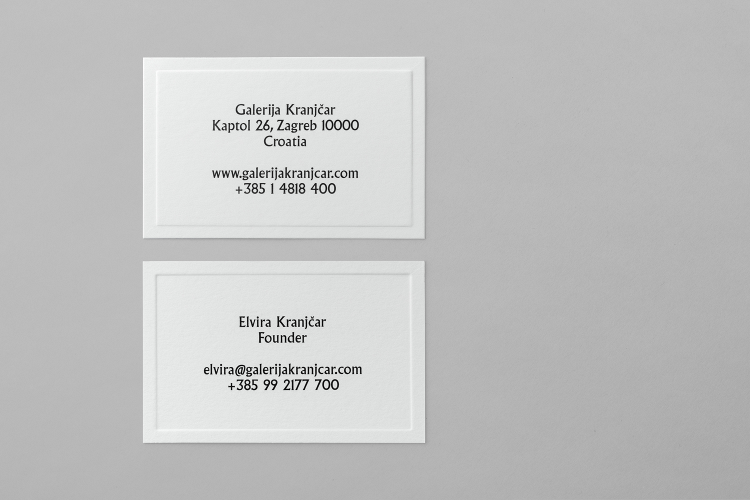 The Best Creative Business Cards 2017 – Galerija Kranjčar by Bunch, Coatia