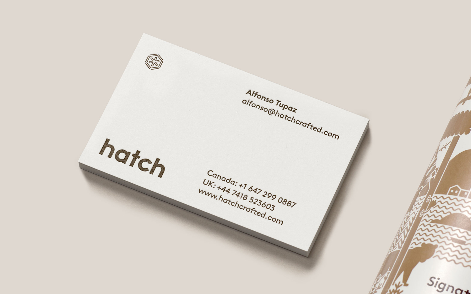 Business cards for Hatch Cold Brew Coffee by Tung, Canada