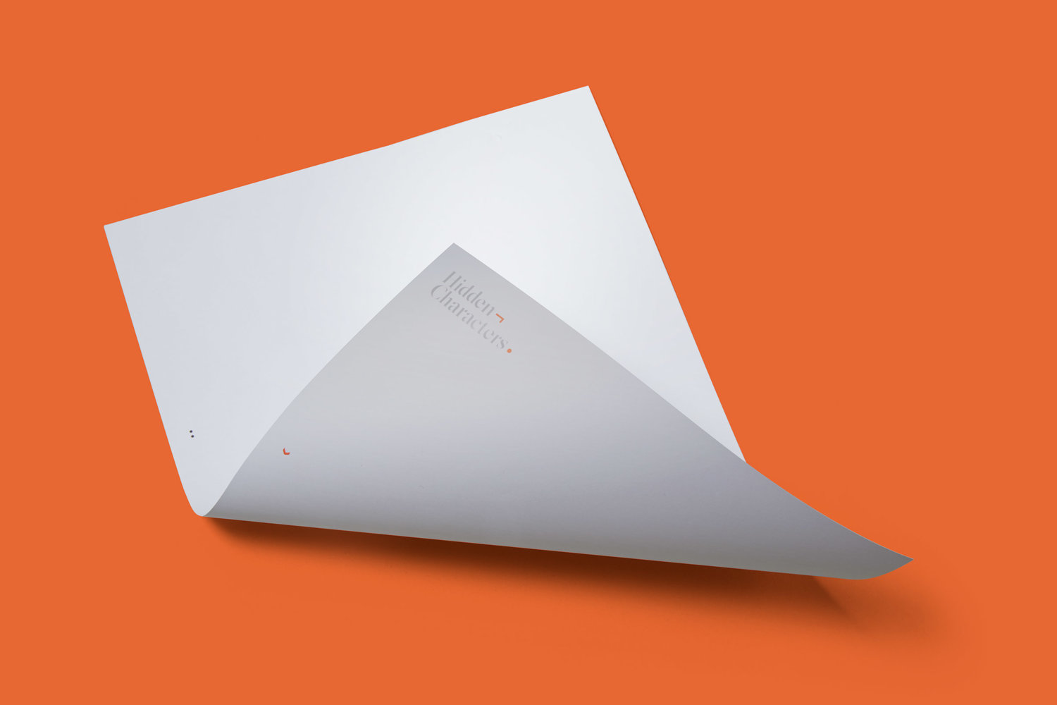 Brand identity and headed paper for Sydney-based PR firm Hidden Characters by RE, Australia