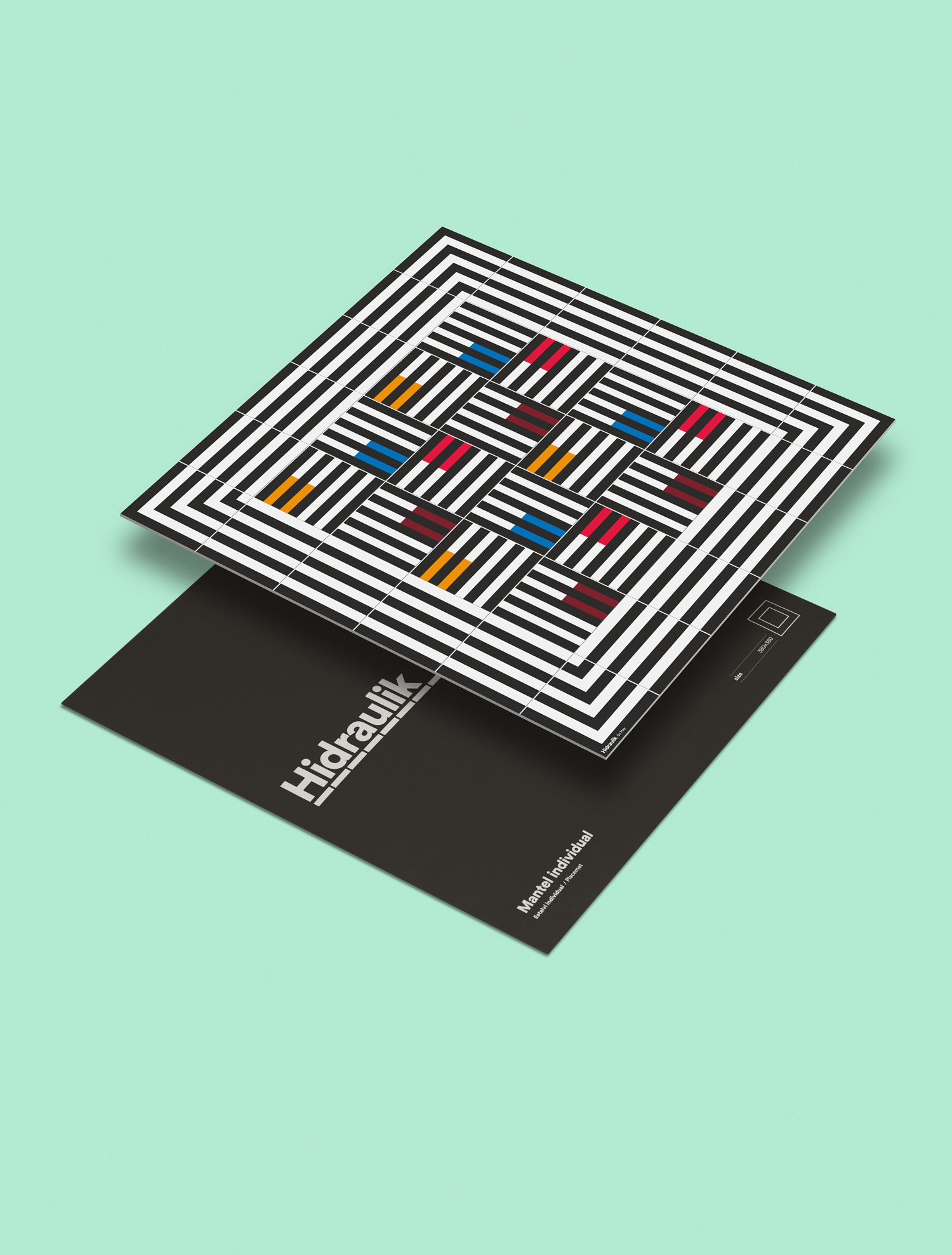 Hidraulik x Hey, a new range of 100% PVC floor and table mats inspired by 20th century modernism