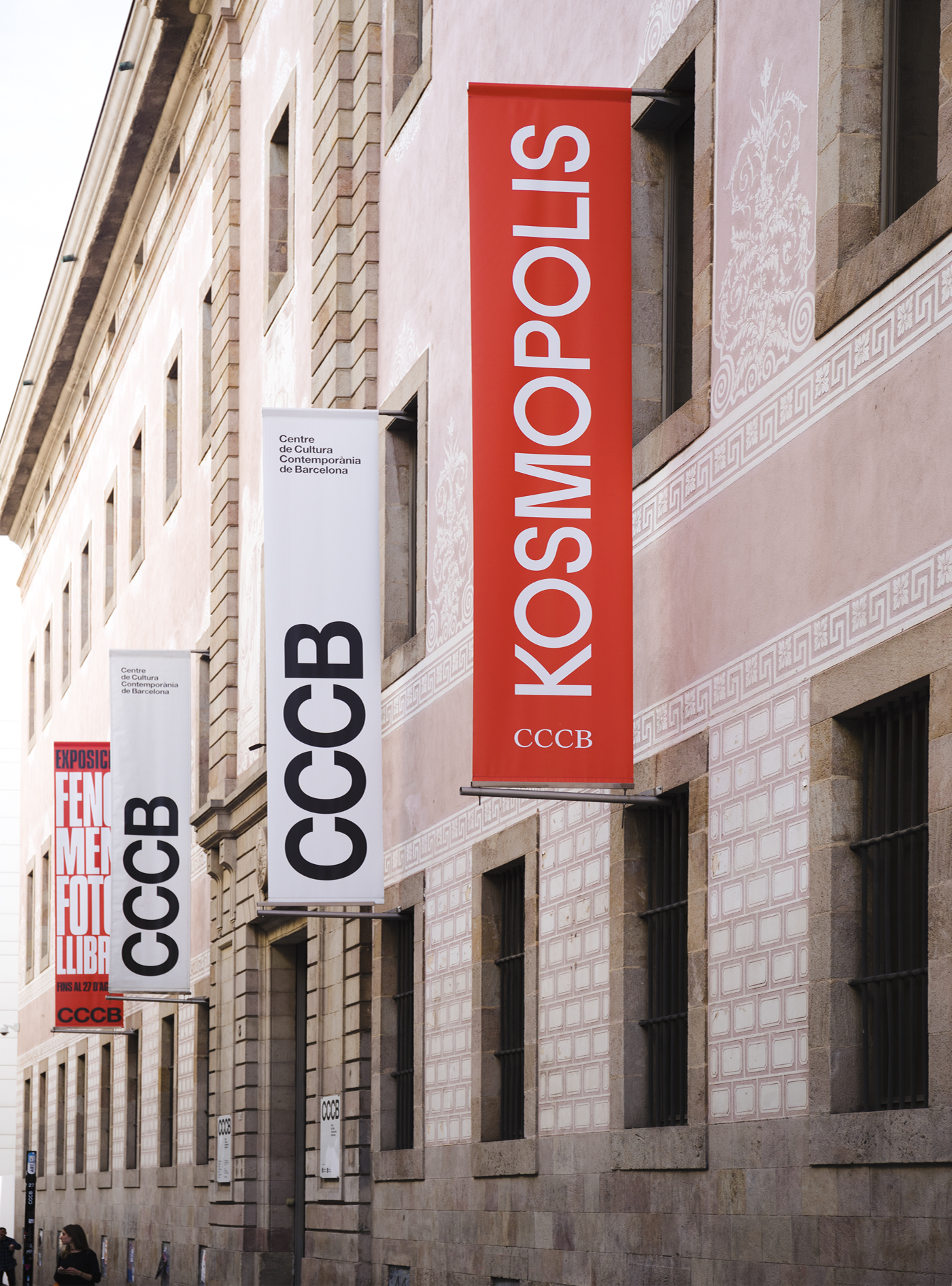 Visual identity and signage by Hey for Barcelona literature festival Kosmopolis