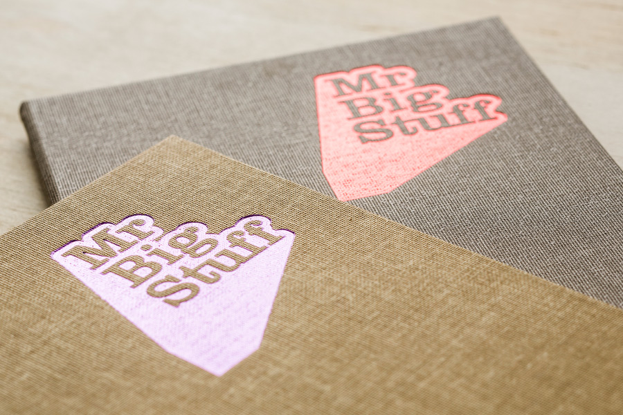 Fabric menu covers by graphic design studio Can I Play for Melbourne soul food restaurant Mr Big Stuff.