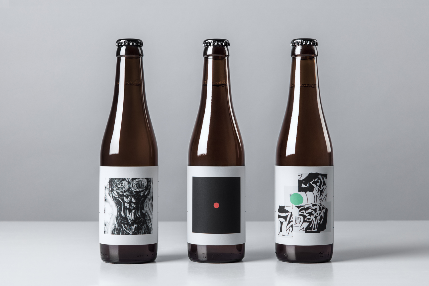 Packaging for O/O Brewing by Swedish graphic design studio Lundgren+Lindqvist