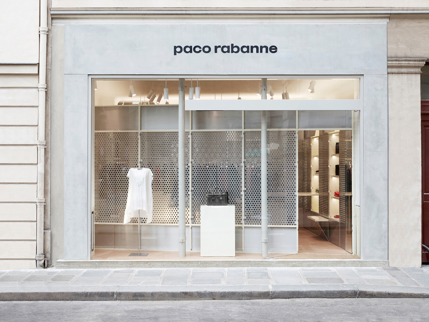 Logotype and signage for Paco Rabanne by Zak Group, United Kingdom