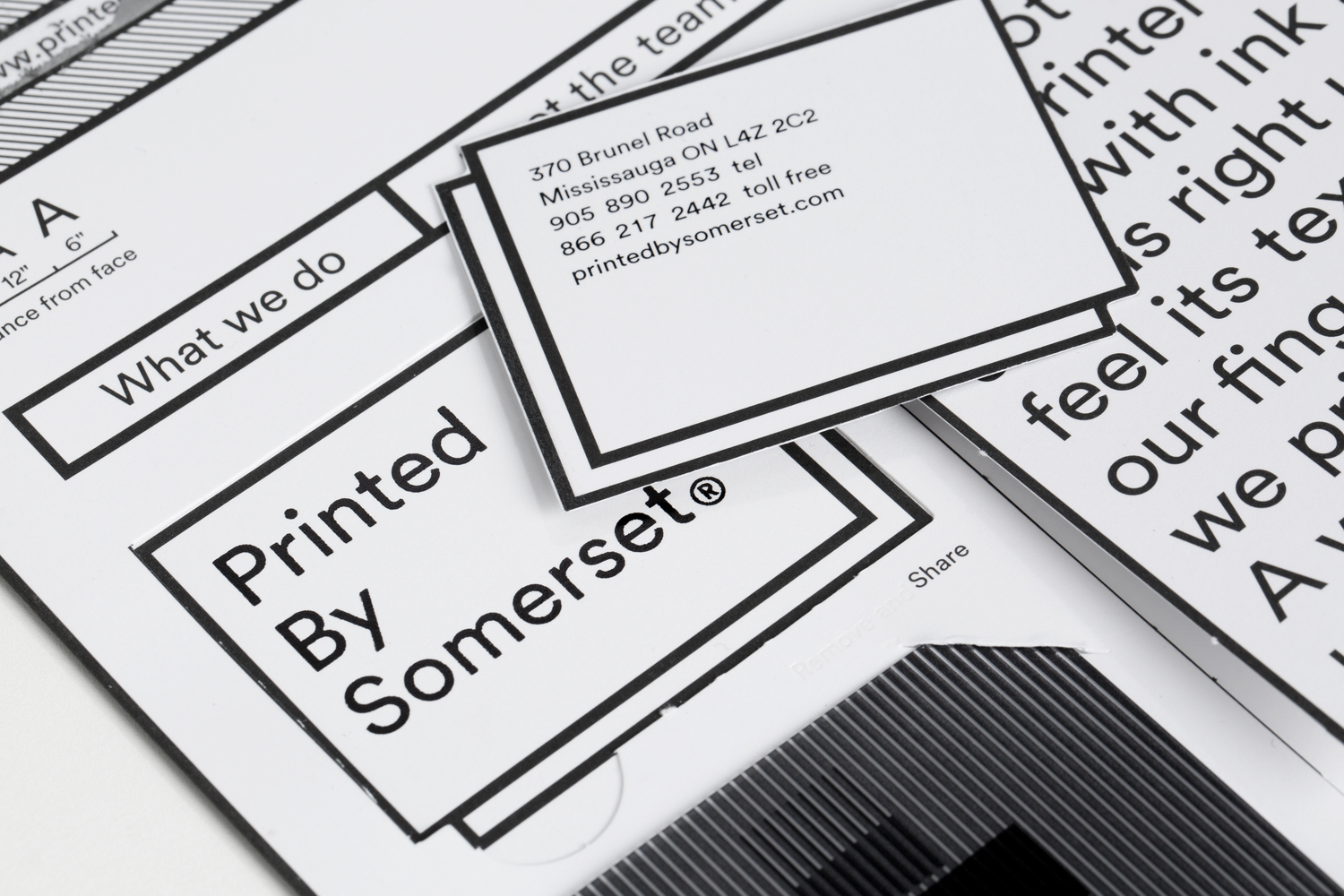 Brand identity and print communication by Leo Burnett Toronto for print production studio Somerset