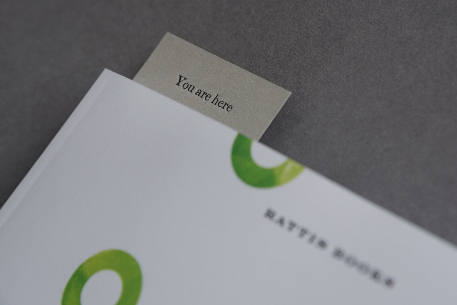 Bookmark by London-based design studio, private press and typography workshop The Counter Press for UK independent publisher Rattis Books.