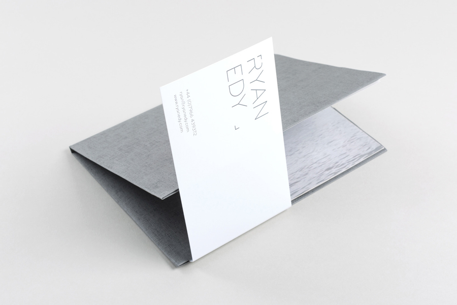 Visual identity and print for photographer Ryan Edy designed by Founded