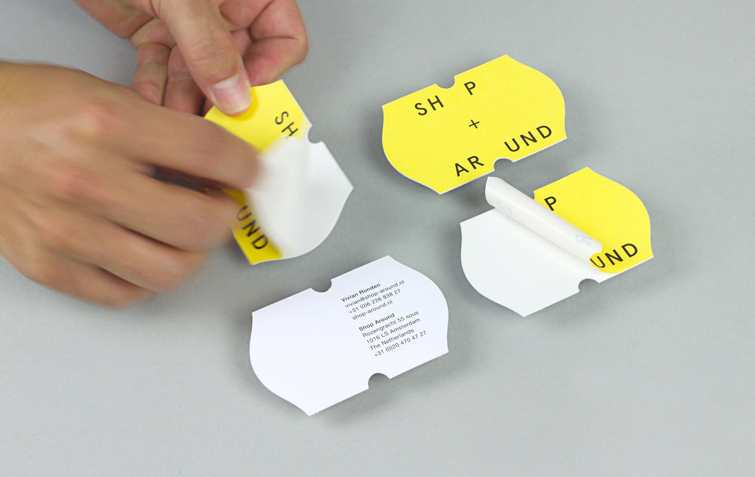 Logo, business cards and print by Toko for New York and Amsterdam-based creative production agency ShopAround