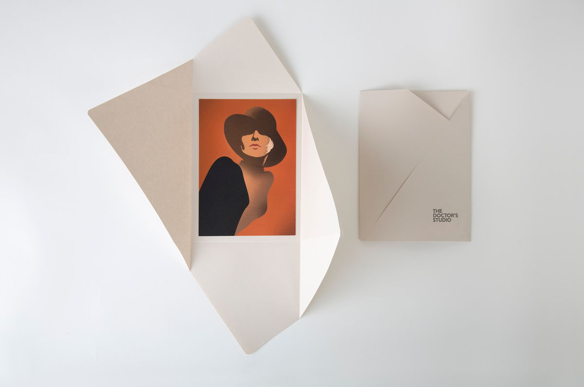 Brand identity and postcards for Melbourne based non-invasive cosmetic surgery The Doctor's Studio by graphic design studio A Friend Of Mine