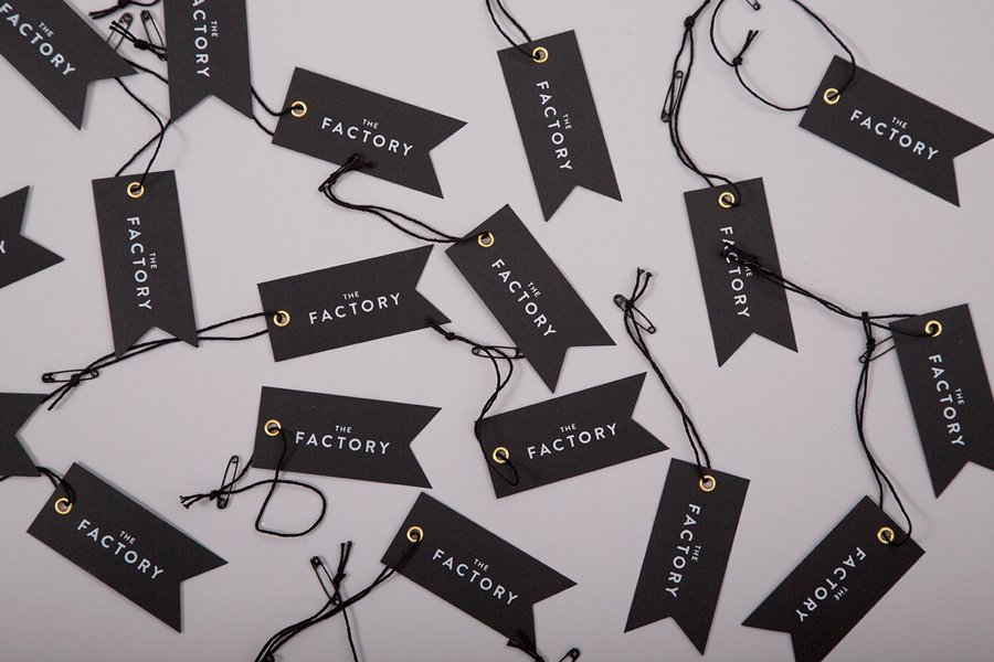 Branding for Oklahoma City fashion store The Factory graphic design studio Ghost
