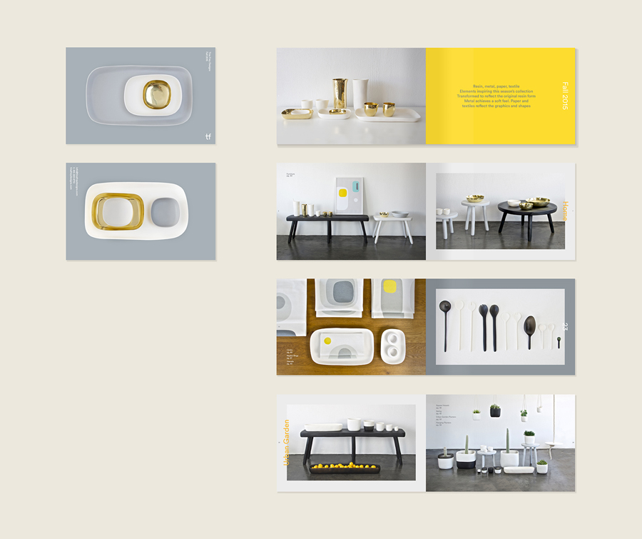 Visual identity and brochure for Tina Frey Designs by graphic design studio Mucho