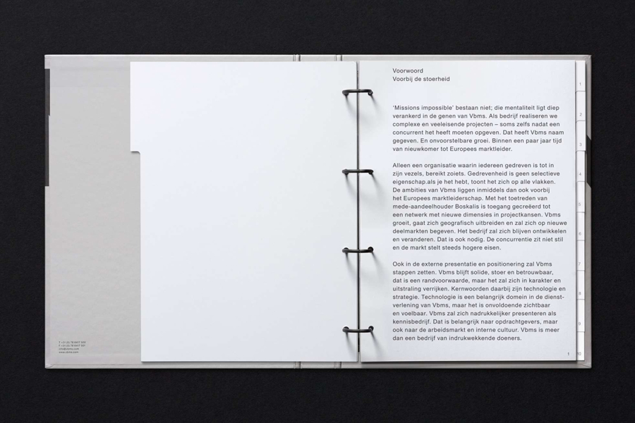 Brand guidelines by Studio Dumbar for VBMS