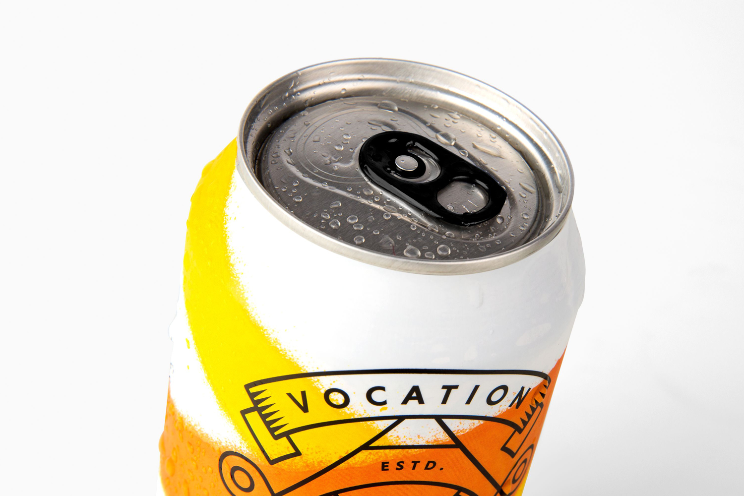 Packaging design by Robot Food for British brewery Vocation's latest release, a craft lager.