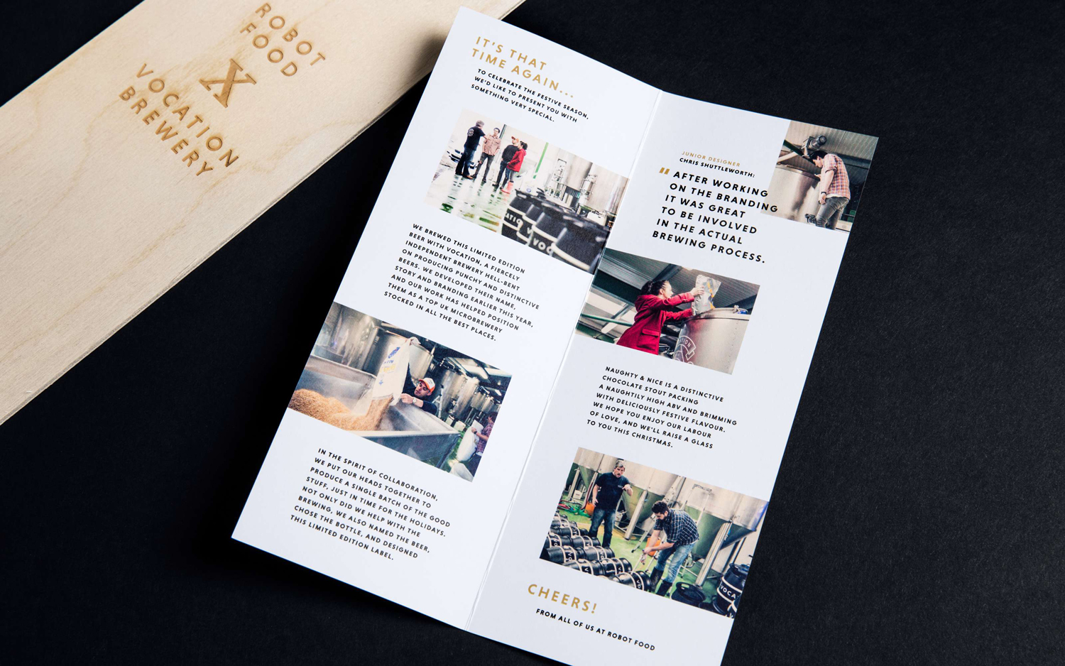 Brochure, Vocation Brewery x Robot Food, United Kingdom