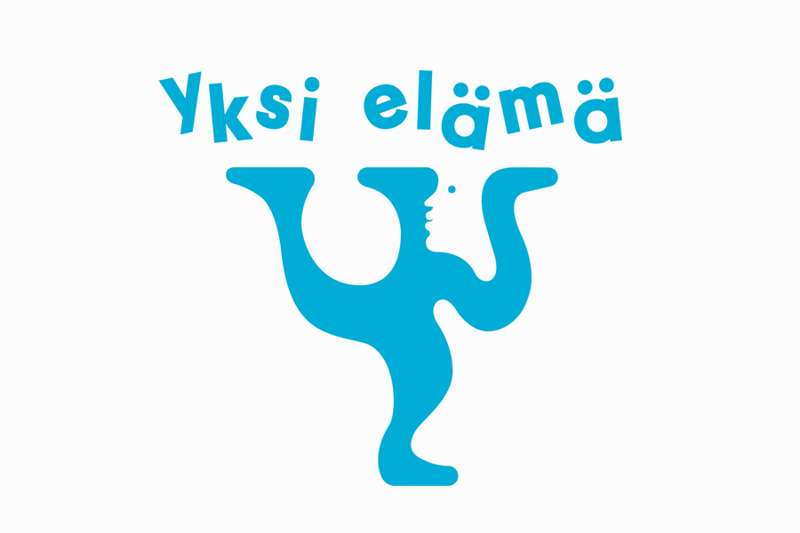 Logo designed by Tsto for Finnish health and wellbeing project Yksi Elämä. Featured on bpando.org