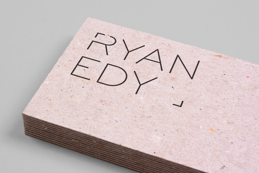 Mixed fibre business card design for photographer Ryan Edy by Founded