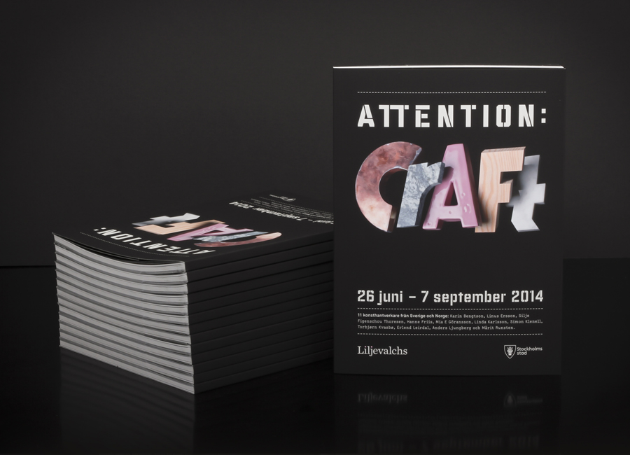 Brochure for Attention: Craft designed by Snask