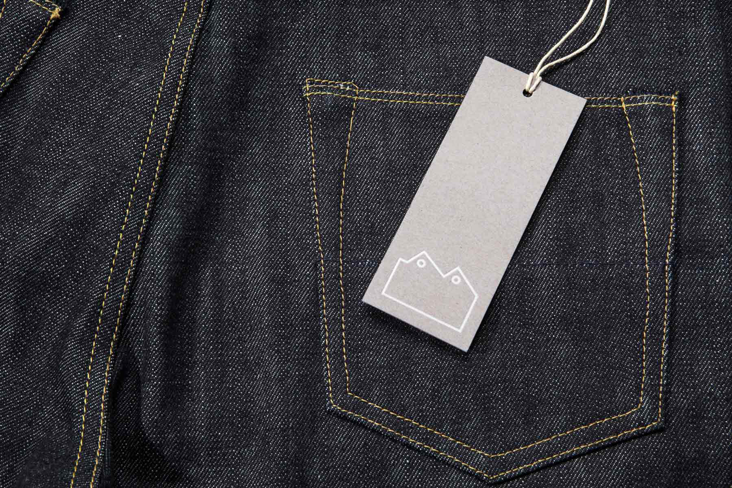 Logo and tag design by StudioSmall for premium selvedge and organic raw denim jeans brand Blackhorse Lane Ateliers.
