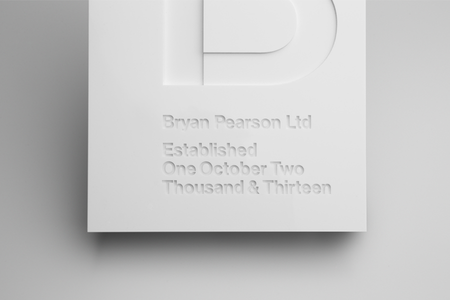Visual identity designed by Strategy for strategic leadership and support business Bryan Pearson.