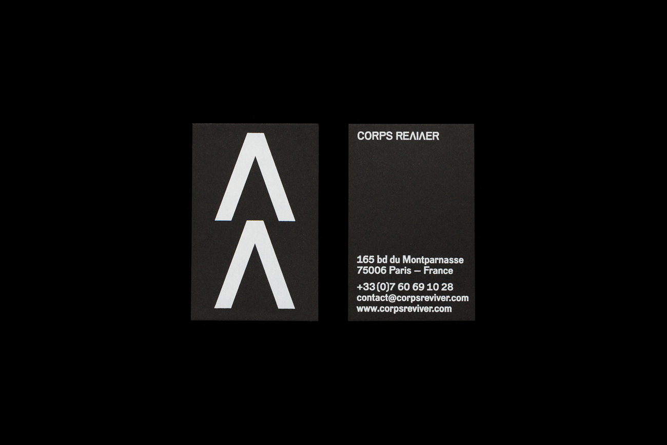 Visual identity and business cards for publisher Corps Reviver by Spin, United Kingdom