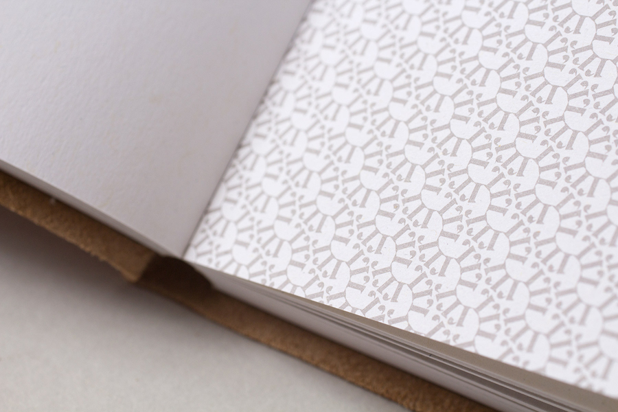 Leather-bound and embossed notebook for Generation Press designed by Build