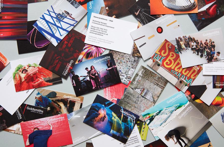 Postcards for Goldsmiths, University of London by UK based graphic design studio Spy