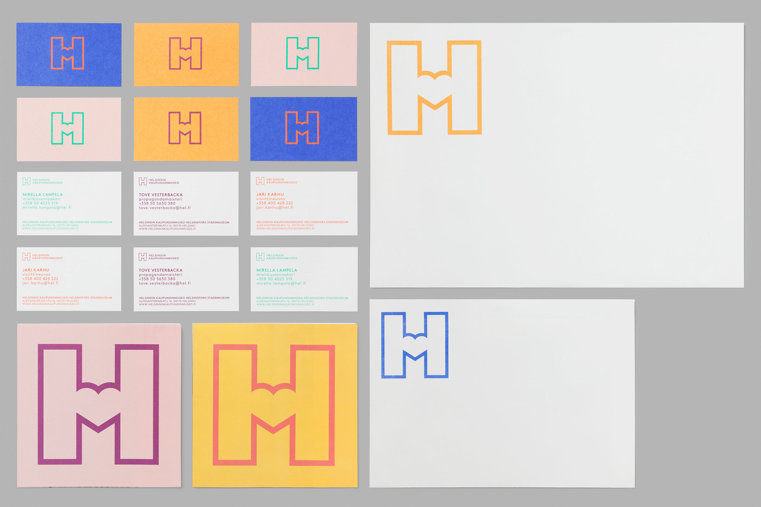Logo and stationery by Finnish graphic design studio Werklig for Helsinki City Museum