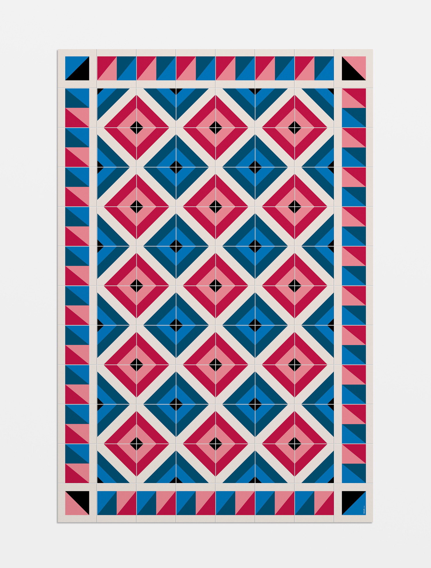 Prints by Hey for Hidraulik, a range of 100% PVC floor and table mats inspired by 20th century modernism