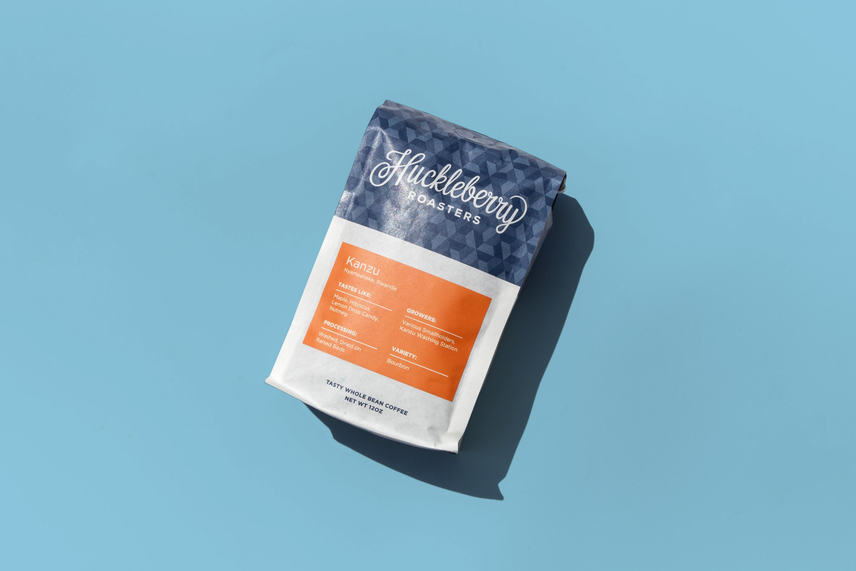 New packaging for Colorado coffee roaster Huckleberry by Mast