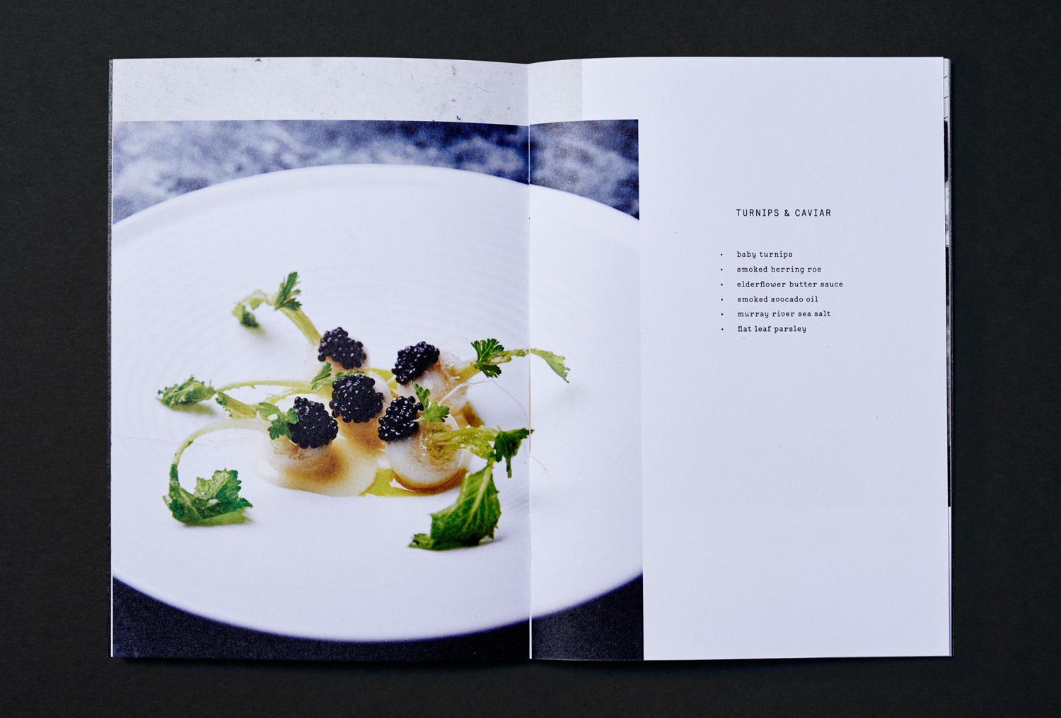 Menu and art direction by graphic design studio Swear Words for Melbourne restaurant Ides