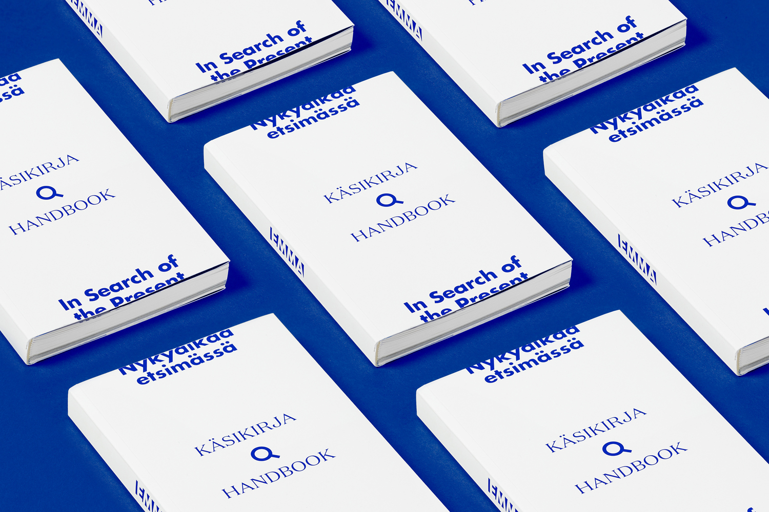 Brand identity and book designed by Helsinki-based Werklig for EMMA exhibition series In Search Of The Present