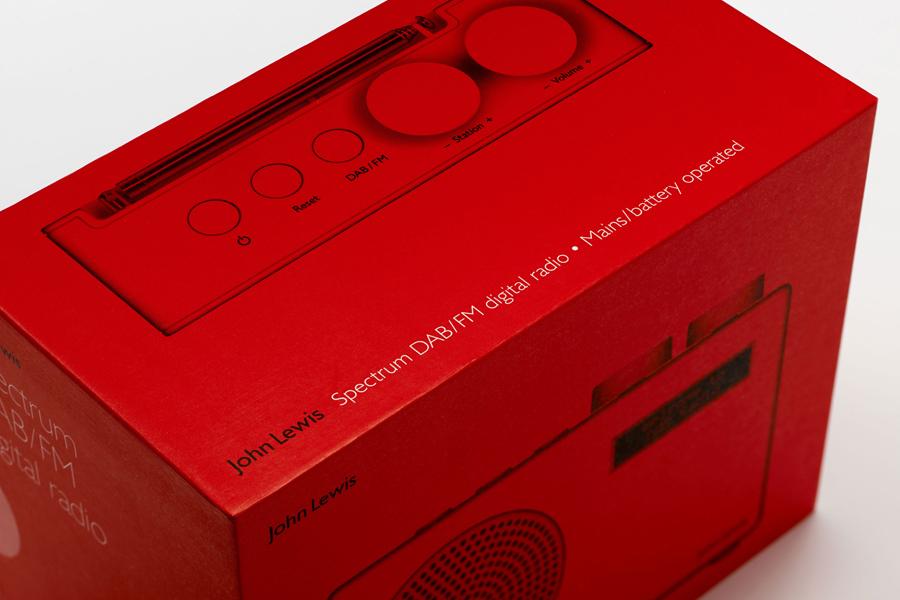 Packaging design by Pentagram for John Lewis' consumer electronics range Spectrum