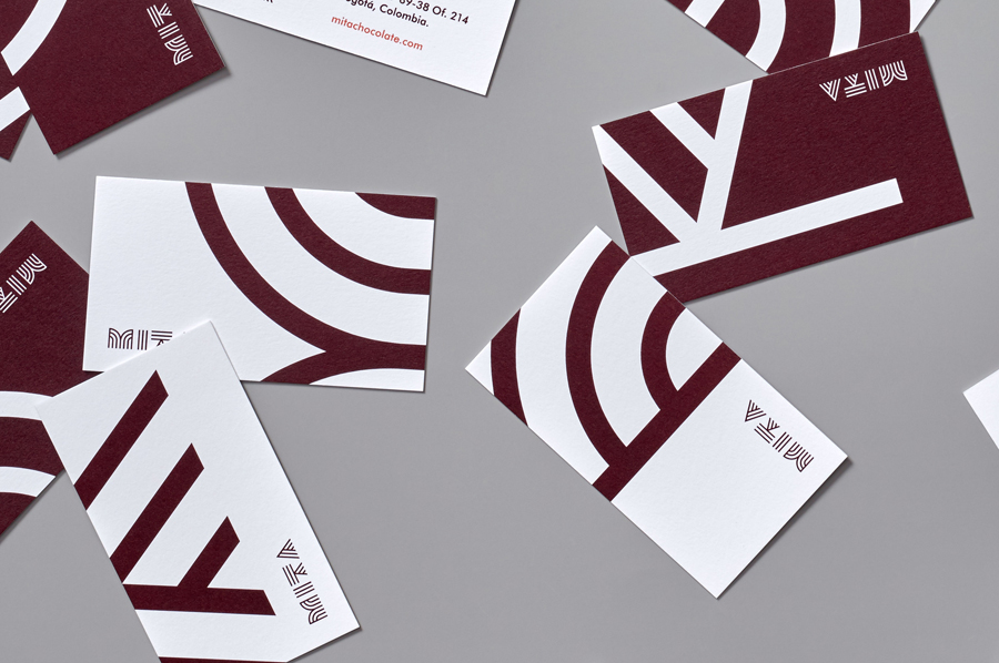 Business cards for Mita Chocolate Co. by Moniker, United States