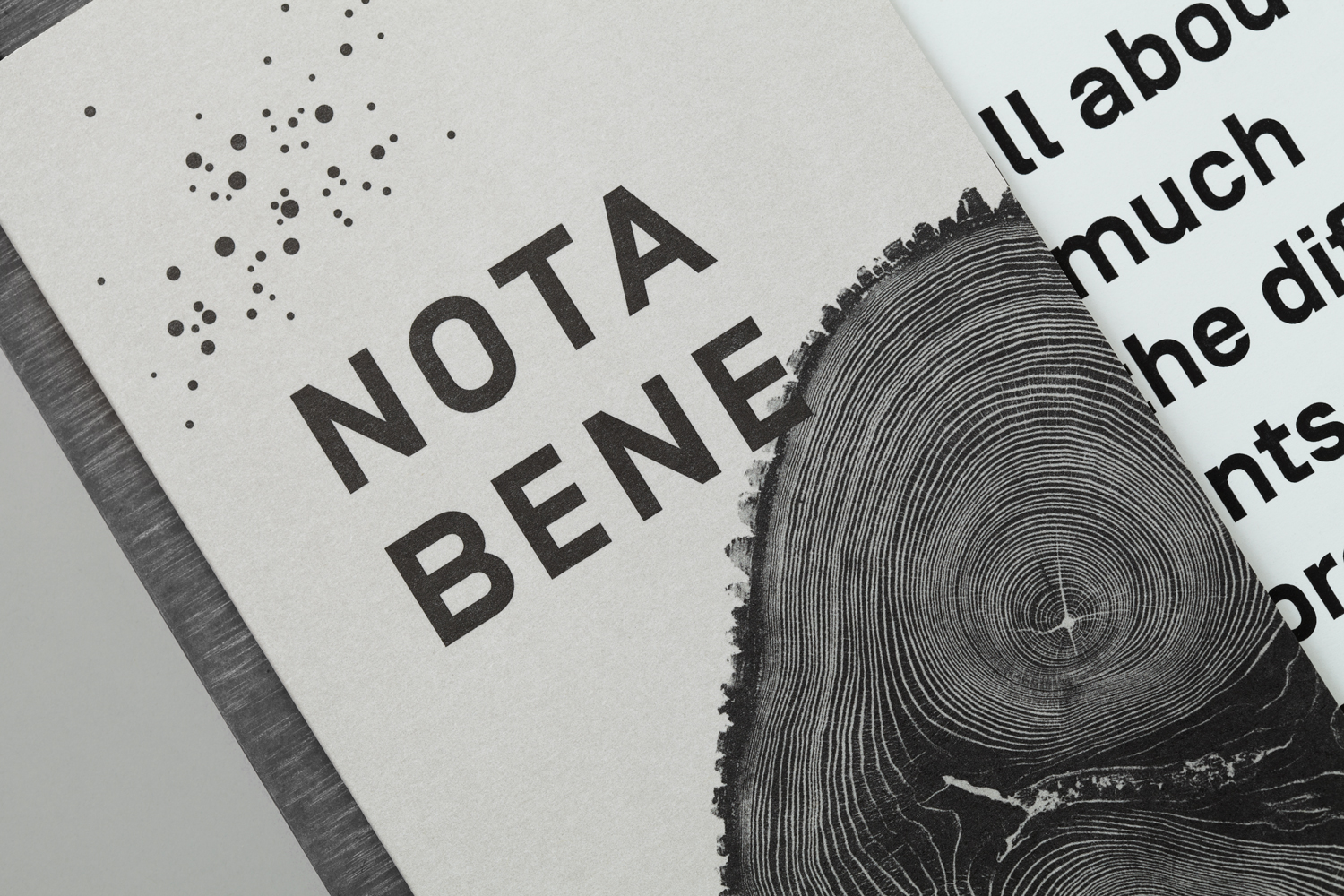 Branding for Toronto restaurant Nota Bene by graphic design studio Blok, Canada