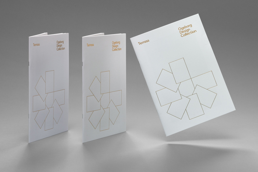 Gold foiled catalogue for carpet manufacture Ogeborg designed by Kurppa Hosk