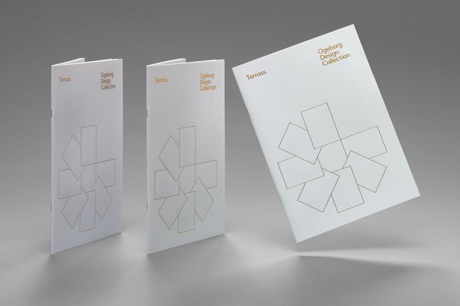 Gold foiled catalogue for carpet manufacture Ogeborg designed by Kurppa Hosk
