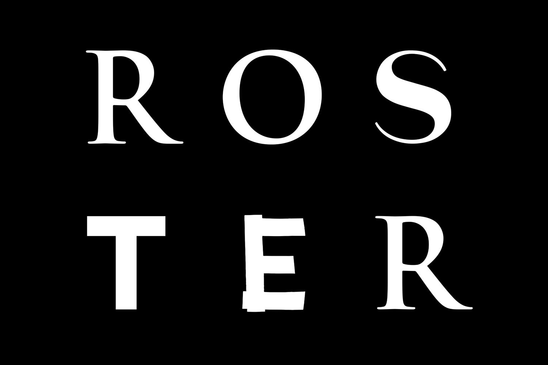 Wordmark by Bond for Helsinki bar and restaurant Roster