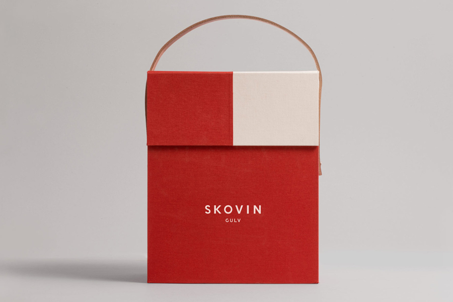 Logotype and packaging designed by Heydays for Norwegian high-end wood flooring specialist Skovin