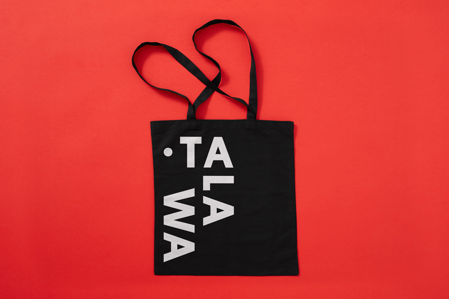 Branded tote bag for UK all black theatre company Talawa by Spy