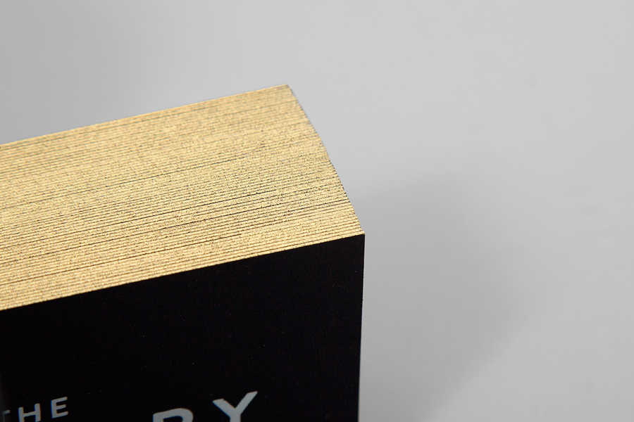 Business cards with gold detail for Oklahoma City fashion store The Factory graphic design studio Ghost