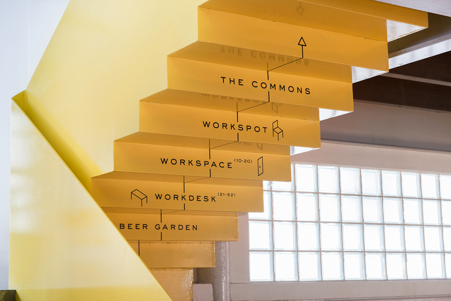 Branding and wayfinding for Singapore co-working space The Working Capitol by Graphic Design Studio Foreign Policy