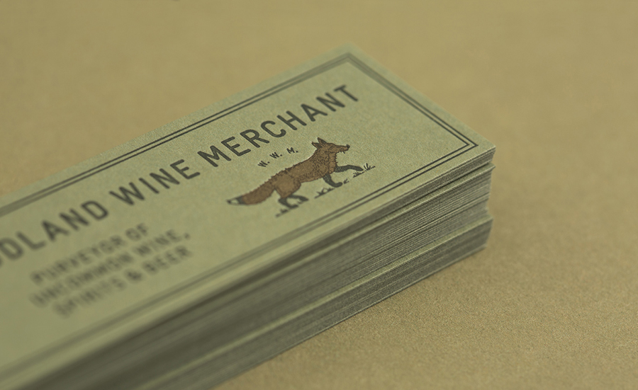 Letterpress tags for Nashville based Woodland Wine Merchant by Perky Bros