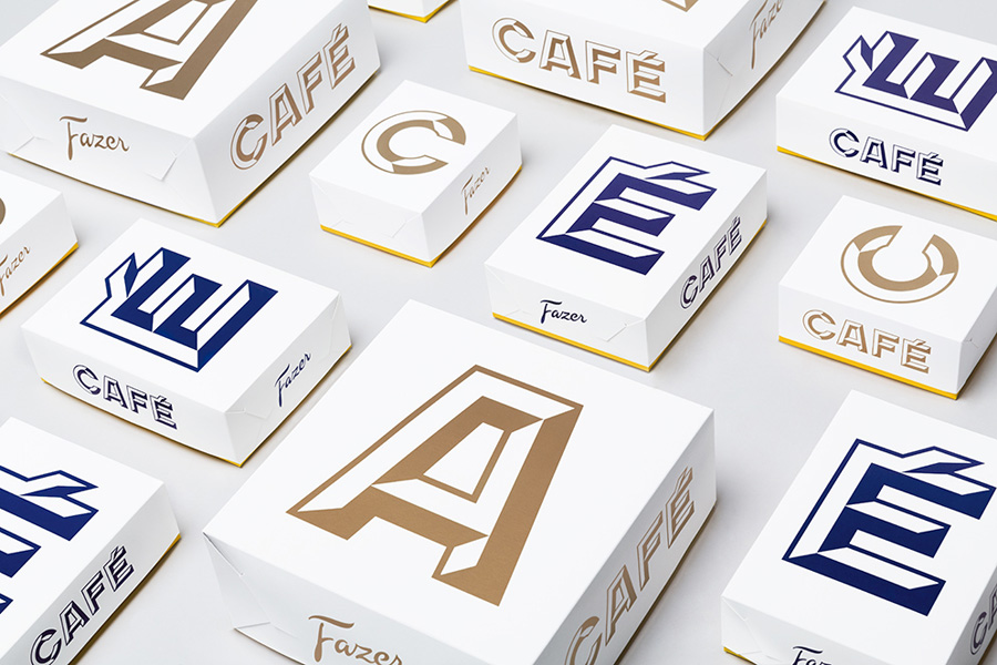 Visual identity and packaging for Fazer Café by Kokoro & Moi designed in Helsinki, Finland