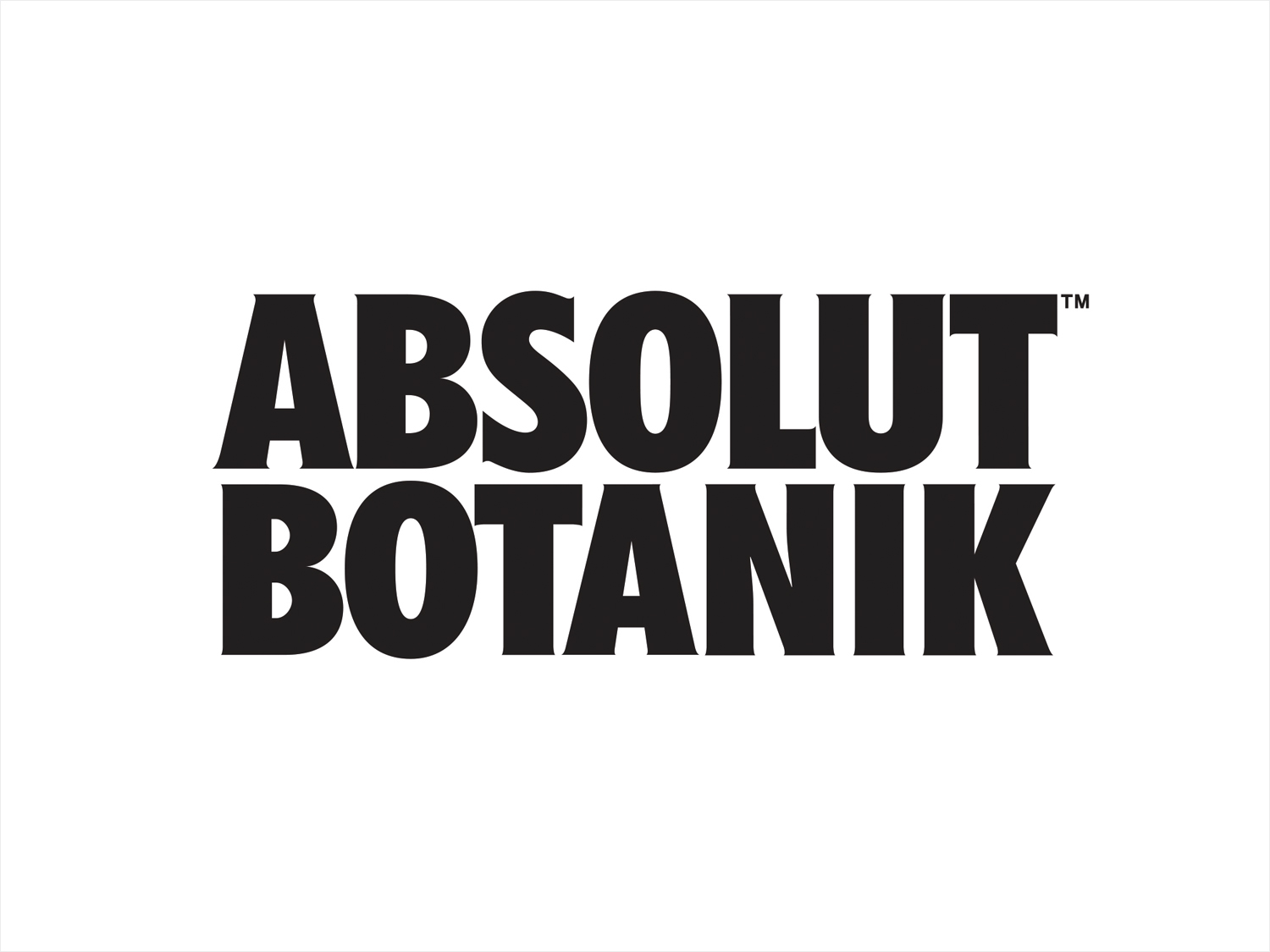 Logotype for Absolut Botanik by graphic design studio Bold Inc.